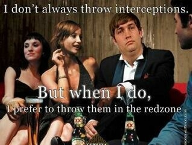 jay cutler the most intercepted man in the world